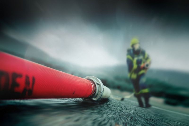 Our material for Feuerwear backpacks: recycled fire hose