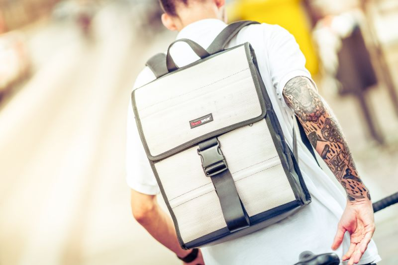 Feuerwear designer backpack Eric in use