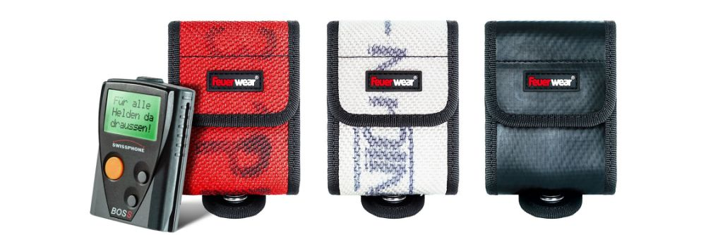 The first pager case made of recycled fire hose by Feuerwear